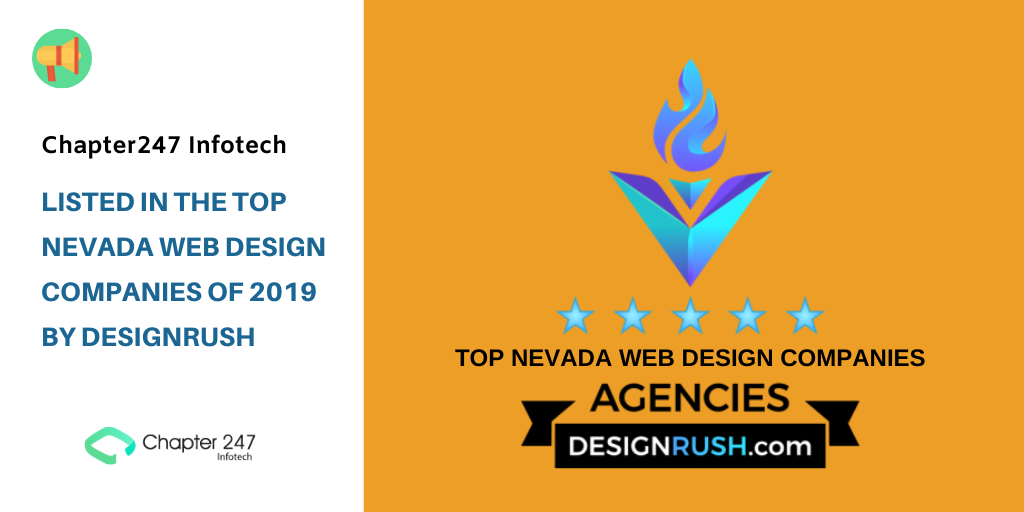 Chapter247 Infotech: Listed in the Top Nevada Web Design Companies Of 2019 by DesignRush