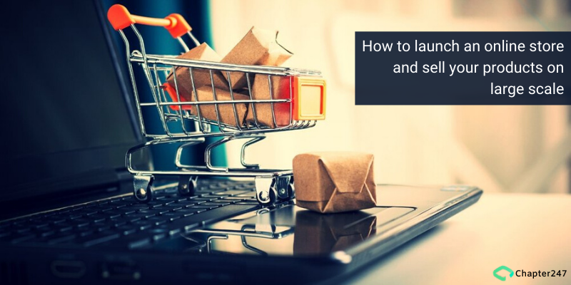How to launch an online store and sell your products on large scale | Chapter247