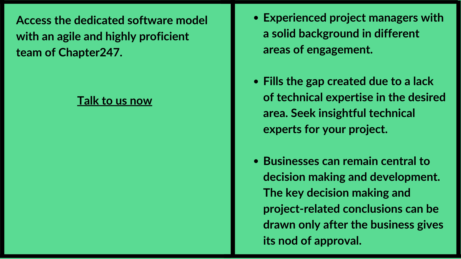 software model with an agile and highly proficient team