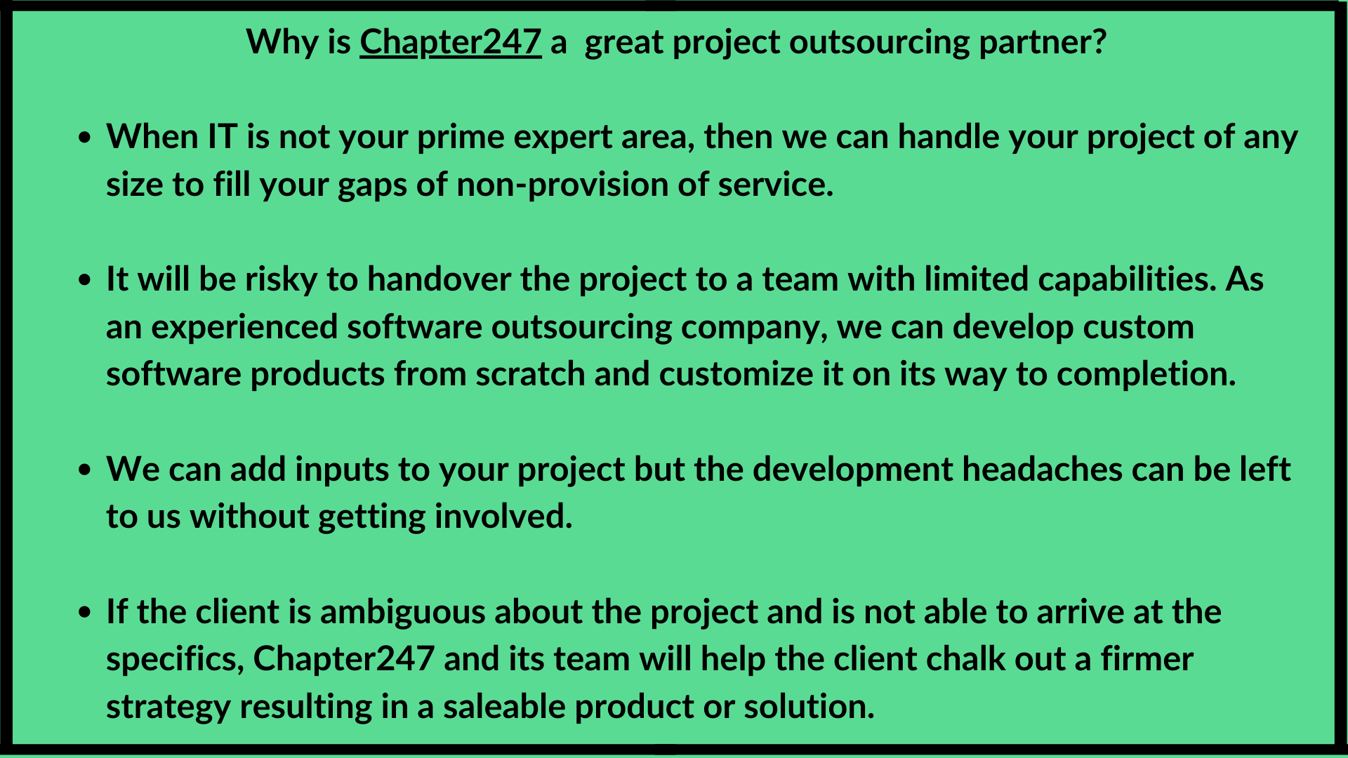 Why is Chapter247 a great project outsourcing partner_